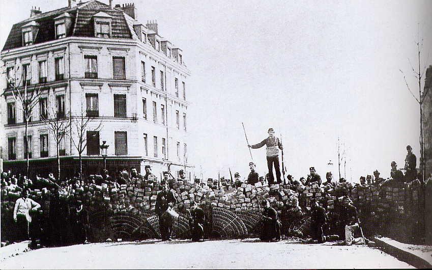 Barricade lors de l'écrasement de la commune